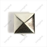 15mm Square Brass Decorative Button (4 Claws)